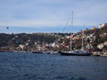 Boat on Bosphorus Strait Royalty Free Stock Images