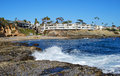 Boat canyon beach or fisherman s cove in north laguna beach california is found this small secluded accessible to the public Royalty Free Stock Images