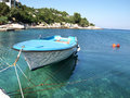 Boat in Dalmatia Royalty Free Stock Photography