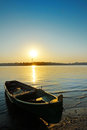 Boat on danube Stock Image