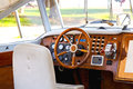 Boat dashboard wooden of a retro motor Stock Image