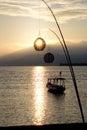 Boat at dawn. Royalty Free Stock Photo