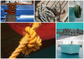 Boat details, sea units Stock Photo