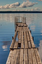 Boat dock on a lake Royalty Free Stock Photo
