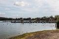 Boat Dock and Rental Boats at Otay Lakes Royalty Free Stock Photo