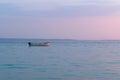 Boat at dusk sithonia chalkidiki greece Stock Photography