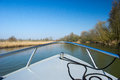 Boat in Dutch Biesbosch Royalty Free Stock Image