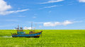 Boat in a field Royalty Free Stock Photography