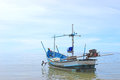 Boat of fisherman in sea Stock Photo
