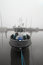 Boat in a fog Royalty Free Stock Photo