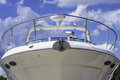 Boat front a large white shot of the of the bow Royalty Free Stock Image