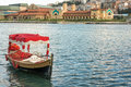 Boat in the golden horn in Istanbul Royalty Free Stock Photo