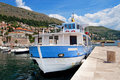 Boat in habour in Dubrovnik Royalty Free Stock Photography