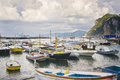 Boat Harbor, Capri Italy Stock Photo