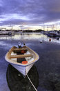 Boat at the harbor small tananger norway Royalty Free Stock Photography