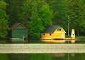 Boat houses Royalty Free Stock Photo
