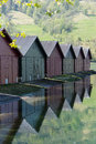 Boat Houses Norway Royalty Free Stock Photo