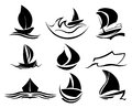 Boat icons Stock Photos