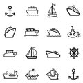 16 Boat icons