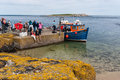 Boat at Inner Farne Royalty Free Stock Photo