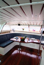 Boat interior Stock Image