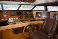 Boat interior helm and equipment Royalty Free Stock Photos