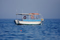 Boat in the Ionian sea Stock Images