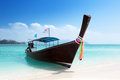 Boat at island in Thailand Stock Photos