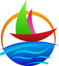 Boat logo a vector drawing represents design Royalty Free Stock Photography