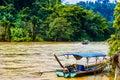 Boat on Mae Nam Kok river by Chiang Rai - Thailand Royalty Free Stock Photo