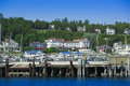 Boat marina in mackinac island michigan Stock Images