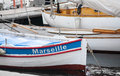 Boat in marseille france old harbor vieux port Royalty Free Stock Photography