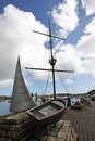 Boat memory monument in Kinsale harbour Royalty Free Stock Photo