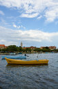 Boat in Nin, Croatia Royalty Free Stock Photo