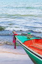 Boat park at beach fishing in thailand Stock Photography
