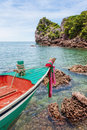 Boat park at island in thailand asia Stock Photography
