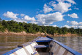Boat in the peruvian rainforrest horizontal Stock Photography