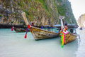Boat in phi phi tailand beautiful sea over clear sky Stock Photography