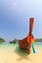 Boat in phuket thailand long tailed ruea hang yao ko phi phi island Stock Images
