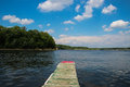 Boat Pier on Snagov Lake, Romania Royalty Free Stock Photo