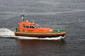 Boat of pilot in harbour Royalty Free Stock Images