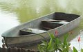 Boat on pond in park Royalty Free Stock Photo