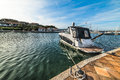 Boat in Porto Rotondo harbor Royalty Free Stock Photo