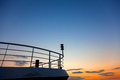 Boat prow close up passenger ship at sunset Royalty Free Stock Image