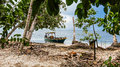 Boat in Punta Cahuita Royalty Free Stock Photo