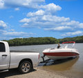 Boat Ramp Royalty Free Stock Photography