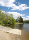 Boat ramp end of the Royalty Free Stock Image
