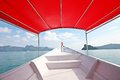 Boat ride in the sea of malaysia Royalty Free Stock Photography