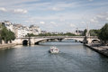 A boat in the river in Paris Royalty Free Stock Photo