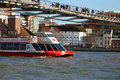 Boat in The River Thames Stock Images
